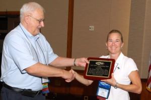 Mrs. Peters representing FDOT receives SMSA Award