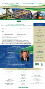 2016 CUTR Transportation Awards Invitation