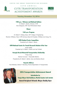 2016 CUTR Achievement Awards Program