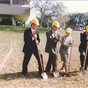 Photo of the first ground being broken