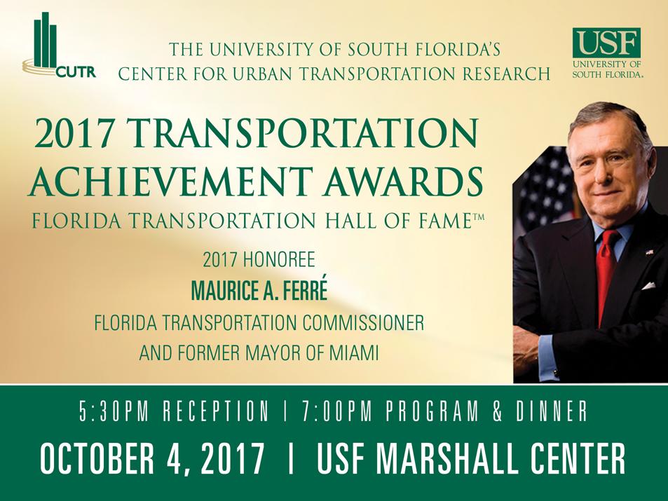CUTR Transportation Achievement Award Invite