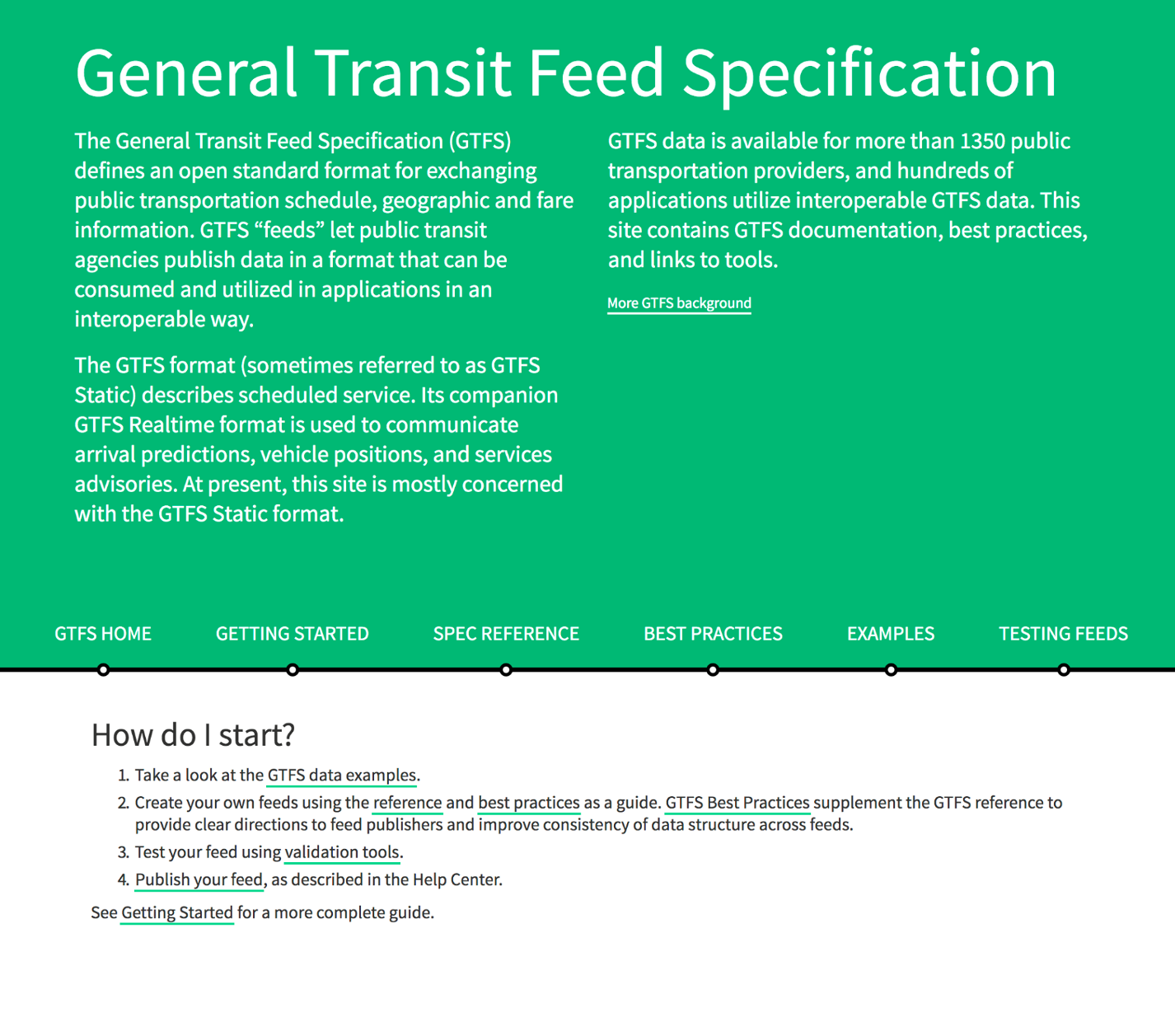 General Transit Feed Specification Best Practices – CUTR
