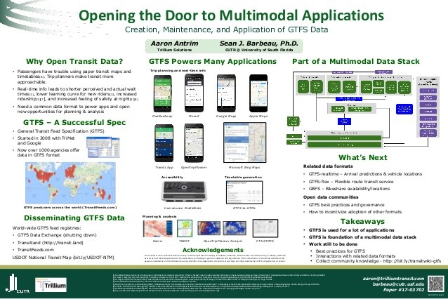 Opening the Door to Multimodal Application of GTFS Data