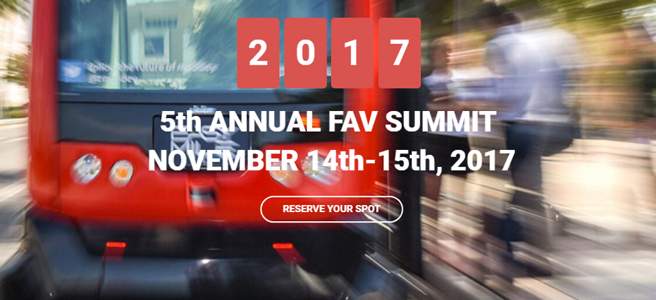 Registraiton is open for the 5th Annual FAV Summit November 14-15, 2017 in Tampa, FL