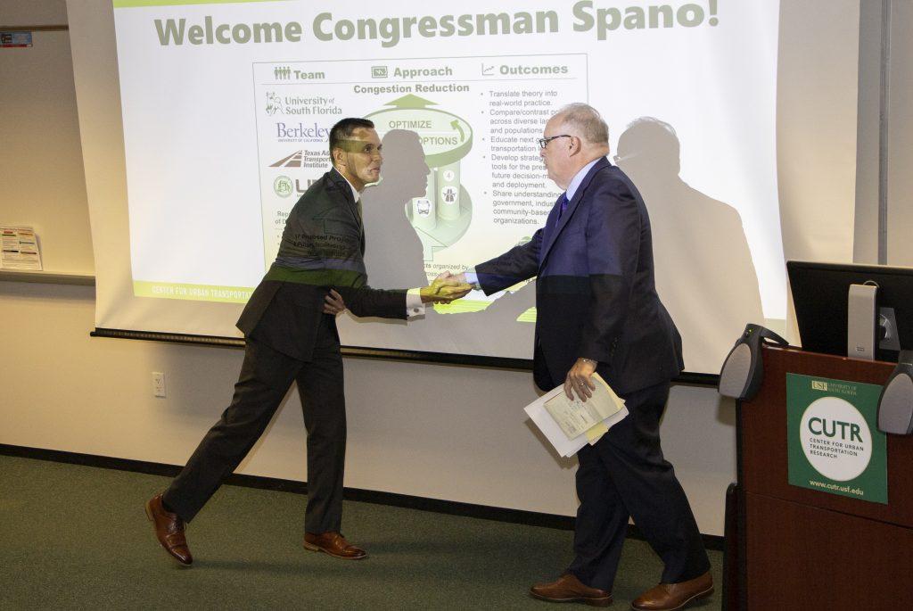 Congressman Ross Spano visits CUTR – CUTR – Center for Urban